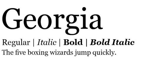 jenis font yang enak dibaca
